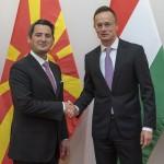SZIJJARTO_Peter fogadja Nasser_NUREDINI urat, Észak Macedónia környezetvédelmi és területrendezési miniszterét a KKM-ben.
